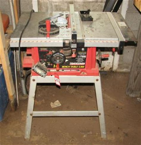 tradesman bench table saw tradesman 10 quot table saw stand current price 48