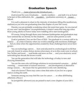 template for a speech sle graduation speech exle template 10 free