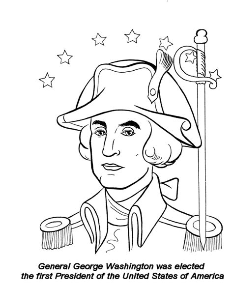 George Washington Coloring Pages Printable coloring page of george washington coloring home
