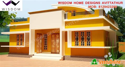 home design 900 square kerala modern style home design 900 square feet