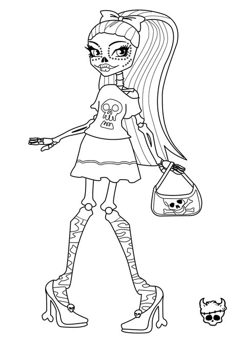 Free Printable Monster High Coloring Pages For Kids Colouring Book