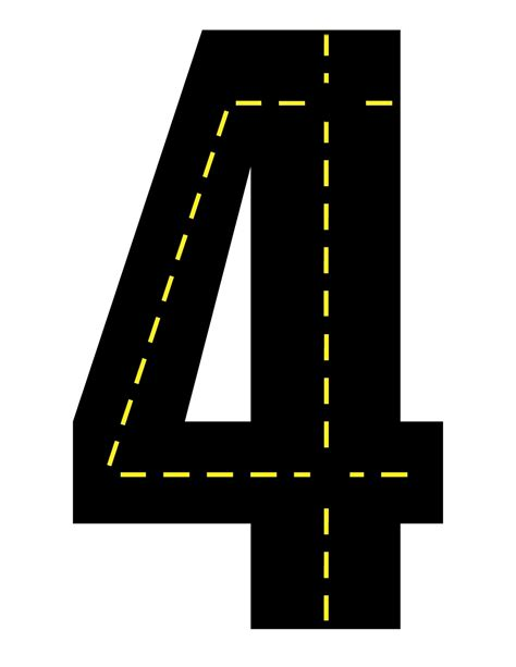 printable road here are the printable number roads for you so you don t