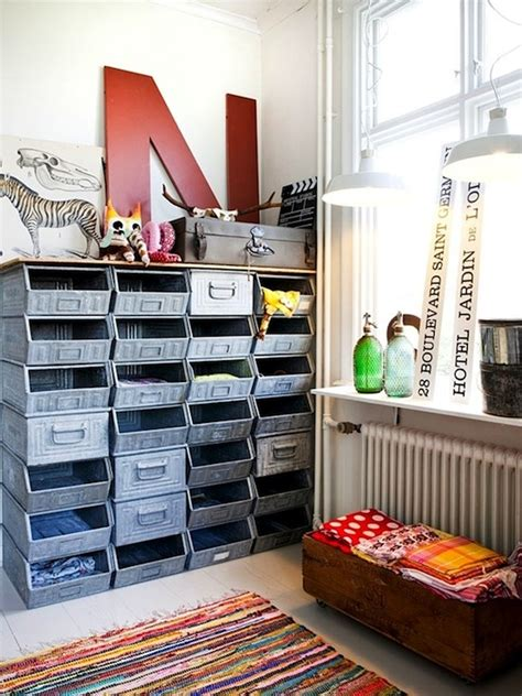bedroom storage bins metal storage bins reused in teen bedroom via