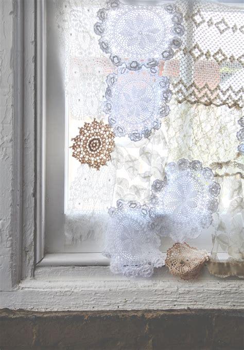 diy lace curtains diy lace doily curtain