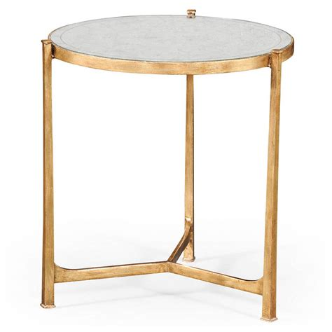 Gold End Table by Mercier End Table Gold Luxe Home Company
