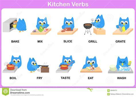 verbe de cuisine dictionnaire de photo de verbes de cuisine pour des