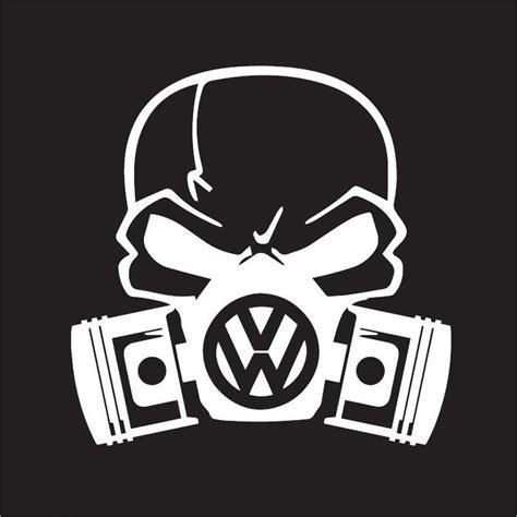 Auto Sticker Volkswagen custom volkswagon skull mask for golf gti vw jetta beetle