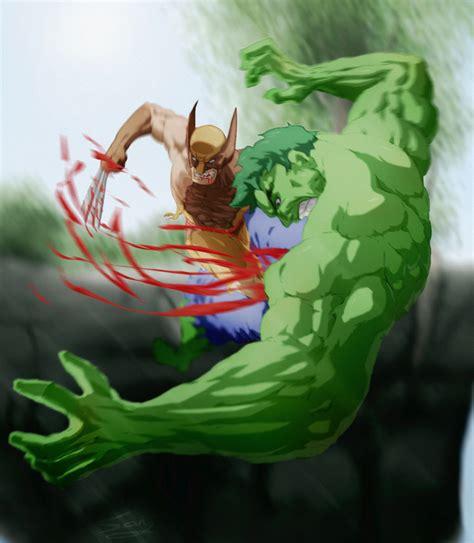 imagenes de hulk vs wolverine en real batallas de marvel imagenes taringa
