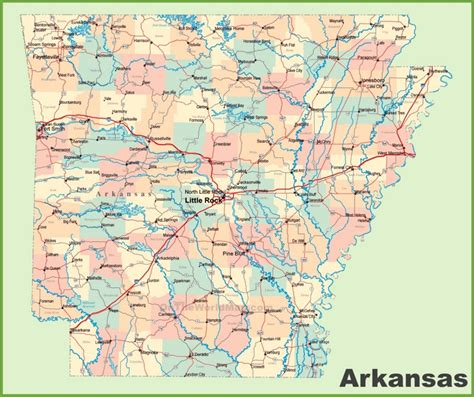 map usa arkansas arkansas road map