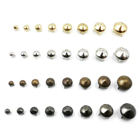 4 Colors Metal Stud 100pcs 4mm mix 4 colors cone studs spikes metal rivets diy 4 claws rock style in
