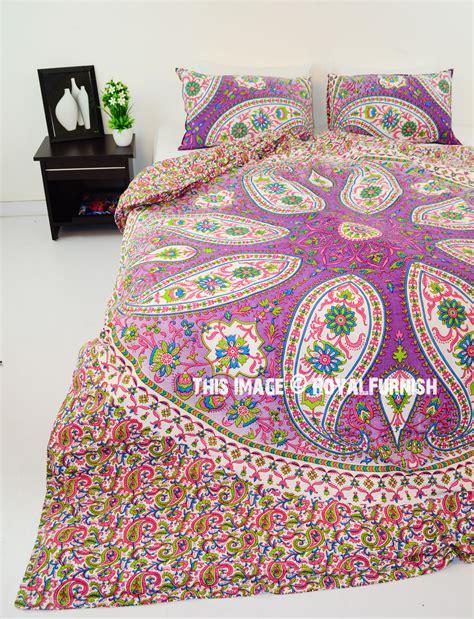 Boho Cover by Pink Paisley Boho Circle Mandala Duvet Cover With Set Of 2
