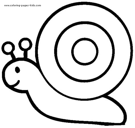 easy coloring pages for kindergarten snail coloring pages color plate coloring sheet