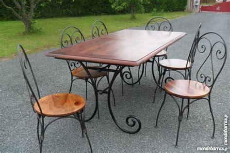 table salle a manger bois et fer table de salle 224 manger bois fer forg 233 clasf