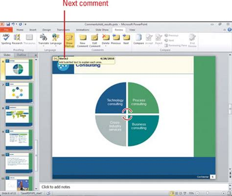 microsoft powerpoint tutorial windows 7 microsoft powerpoint 2010 adding comments to a