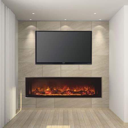modern flames 60 quot landscape series linear electric fireplace woodlanddirect indoor