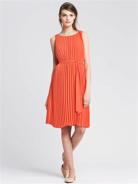 banana republic dress banana republic pleated tie front dress in pink coral