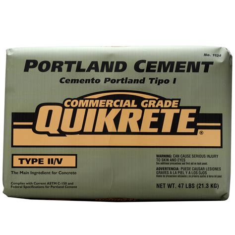 Bathroom Track Lighting Ideas Shop Quikrete Portland 47 Lb Gray Type Ii V Cement Mix At