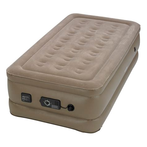 insta bed raised twin air bed  neverflat ac pump