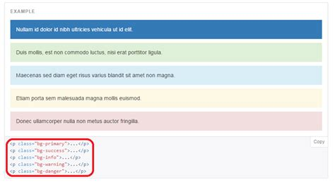 html div exles bootstrap text color bootstrap css a color palette