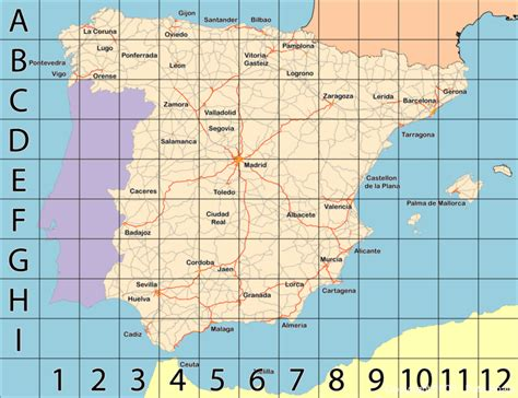 map of spain with cities large map of spain s cities and regions