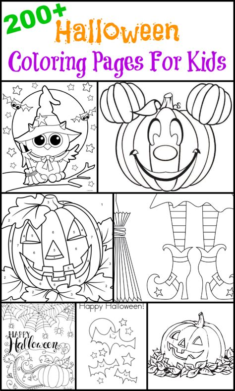 200 Free Halloween Coloring Pages For Kids Thesuburbanmom Where Can You Find Coloring Books