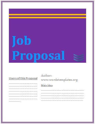 proposal templates free word s templates