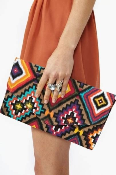 tribal pattern onesie bag clothes clutch tribal pattern bright colored
