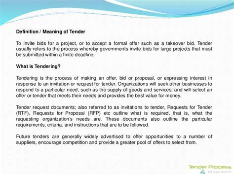 define bide tender process