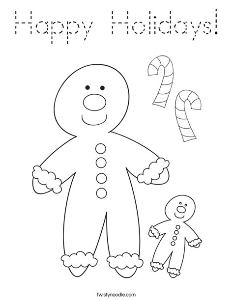 happy holidays coloring pages coloring pages