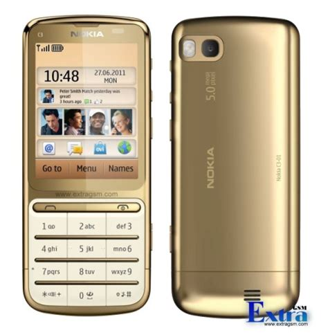 Kesing Hp Nokia C3 nokia c3 01 gold edition phone photo gallery official photos
