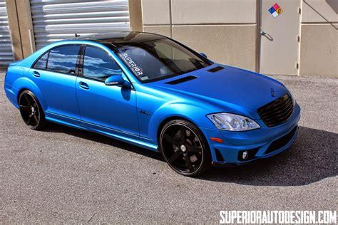 blue mercedes mercedes w221 s63 amg blue matte with vossen wheels