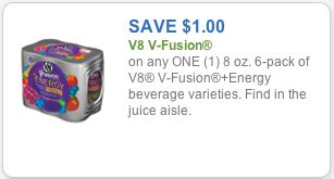 energy drink coupons 1 00 v8 fusion energy drink coupon price match at