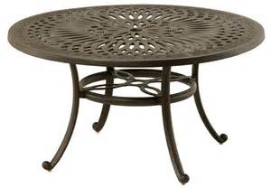 Patio Table Lazy Susan Mayfair By Hanamint Luxury Cast Aluminum 54 Quot Dining Table W Inlaid Lazy Susan