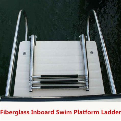 ladder for swim platform on boat fiberglass boat swim platform ladder stainless 2 rails 3