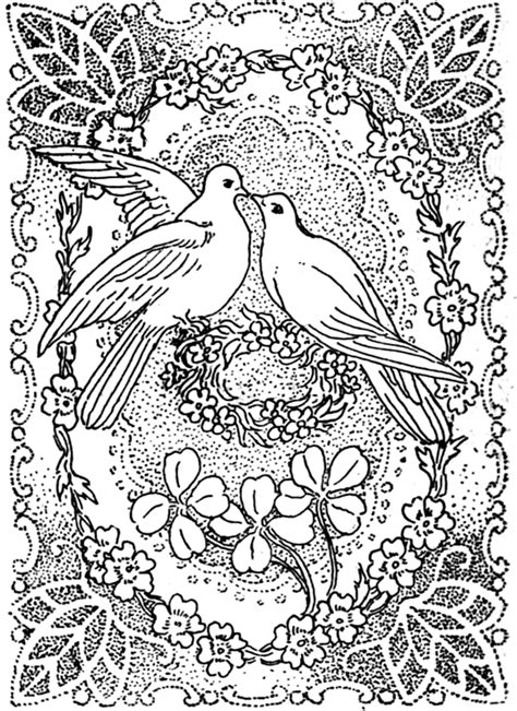 coloring pages for adults peace peace and love coloring pages doves kissing in peace and