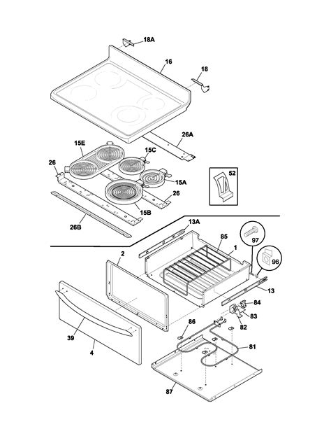 frigidaire oven parts diagram frigidaire plef398ccc electric range timer stove clocks