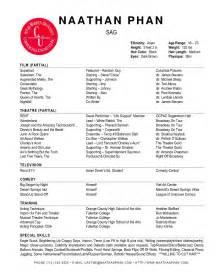Qualifications Resume: Technical Theatre Resume Templates