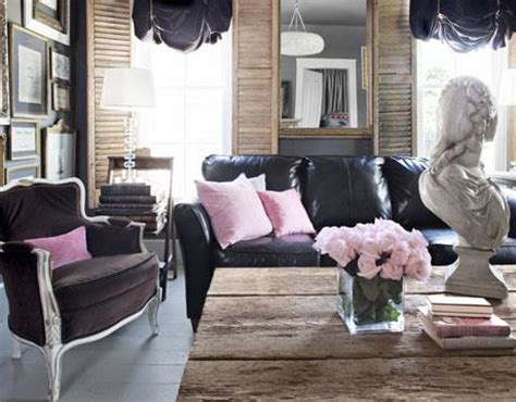 black leather couch eclectic living room benjamin