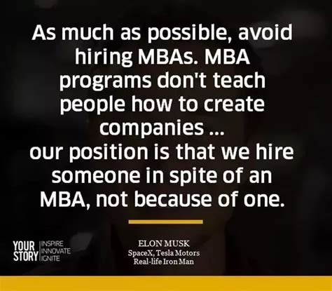 What Does Mba In Education by What Does Elon Musk Think Of Mba Education Quora