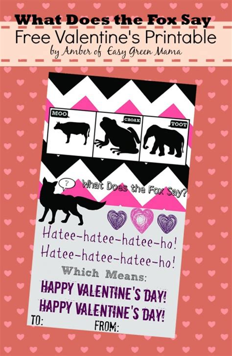 what to say on a valentines card what does the fox say s day cards free