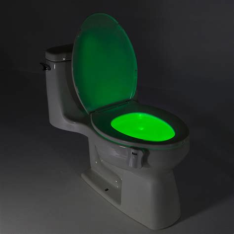 toilet bowl light 8color led sensor motion activated bathroom toilet lights