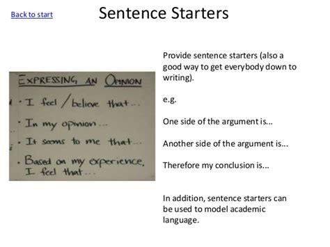 research paper sentence starters argument essay sentence starters