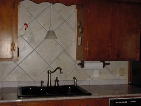 Large Tile Kitchen Backsplash - backsplash
