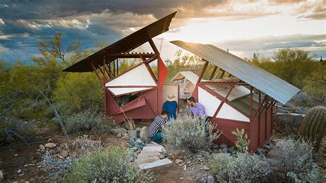 Tiny Houses Arizona frank lloyd wright architecture school students built