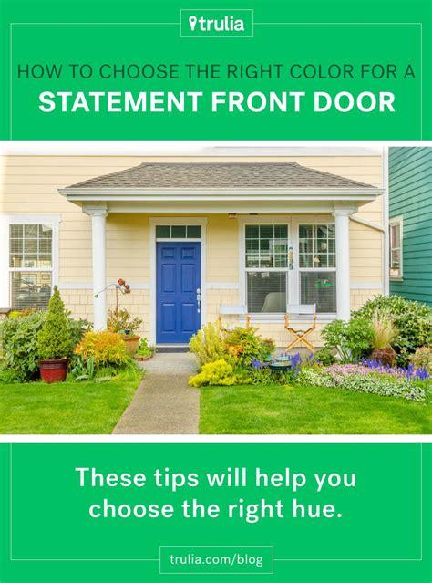 choose   color   statement front door