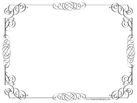 black and white border cards template certificate borders related keywords suggestions