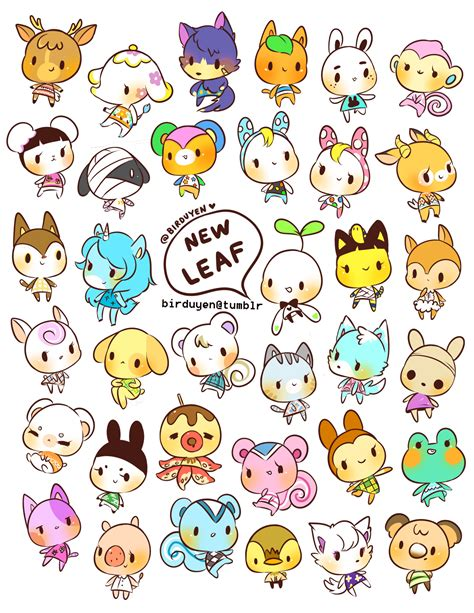 sticker doodle draw birduyen animal crossing new leaf stickers animal