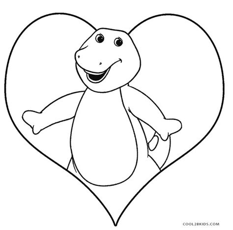 barney birthday coloring page free printable barney coloring pages for kids cool2bkids