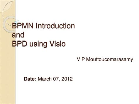 visio introduction bpmn introduction and bpd in visio