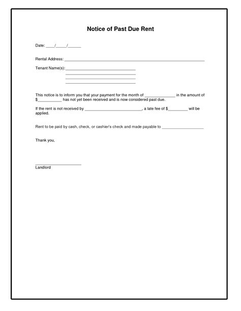 Rent Bill Letter best photos of rent reminder template rent reminder